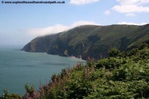 The coast above Lynmouth