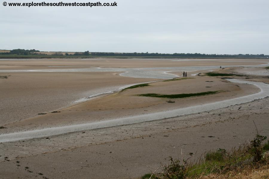 Sandbanks and the river Taw
