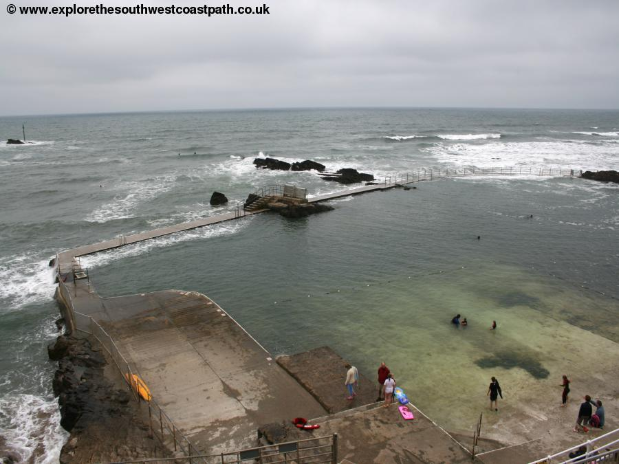Tidal swimming pool at Summerleaze beach