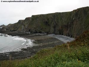 Beach north of Hartland Quay