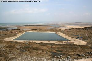 The tidal swimming pool, Westward Ho!