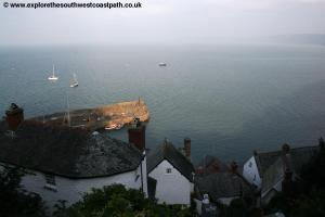 Clovelly Harbour below