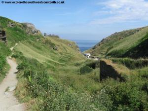 Approaching Tintagel castle
