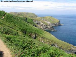 View back towards Tintagel