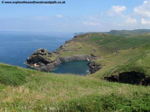 The entrance to Boscastle Harbour