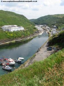 Entering Boscastle