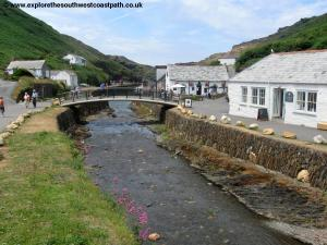 The new bridge at Boscastle, replacing the older bridge destroyed by floods in 2004