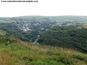 View down to Boscastle