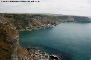 View back to Trebarwith Strand