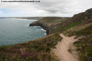 Approaching Perranporth