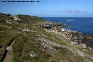 The rocky north coast of Tresco