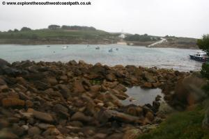 Looking back to St Agnes from Gugh