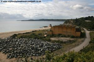 The remains of the Cornwall Colosseum at Carlyon Bay