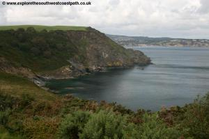 View back to St Austell Bay