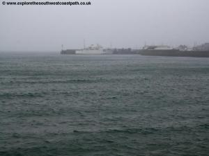 A wet and misty day in Penzance