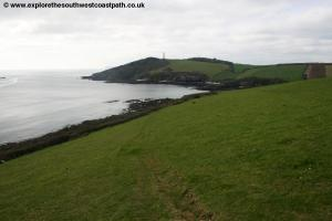 View back to Gribbin Head