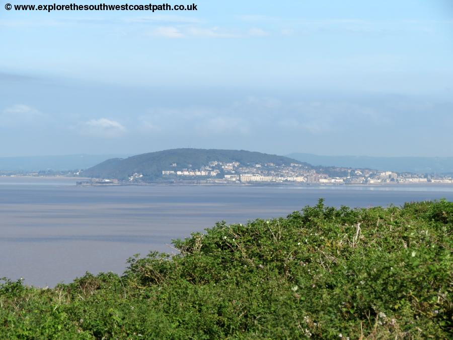 Weston-super-Mare from Steep Holm