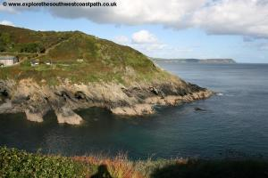 The entrance to Portloe Harbour