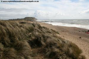 View back to Hengistbury Head