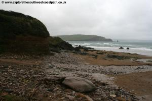 The beach at Bigbury on Sea