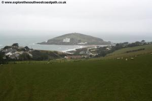 View down to Burgh Island