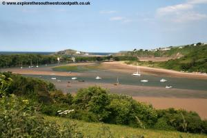 Looking back to the Avon and Burgh Island