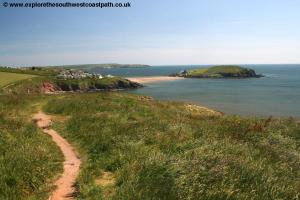 View back to Burgh Island
