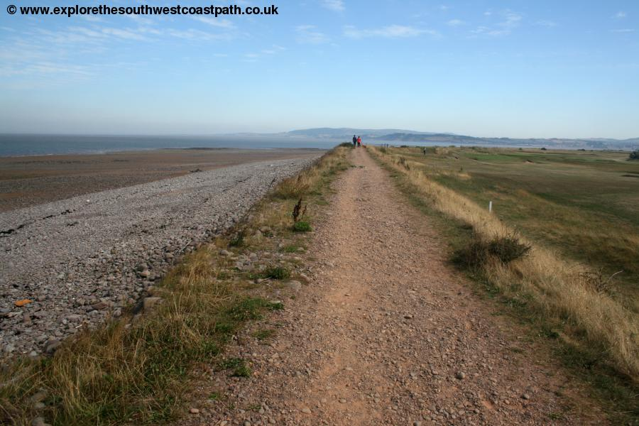 The coast path between Dunster and Minehead