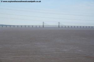 The Second Severn crossing from the Severn Bridge