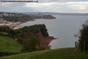 View north over Teignmouth near Labrador Bay