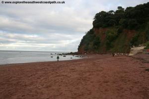 The beach at Shaldon