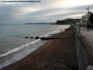The sea wall in Teignmouth