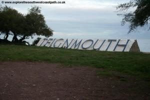 Teignmouth sign at Sprey Point