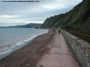 The sea wall at Holcombe