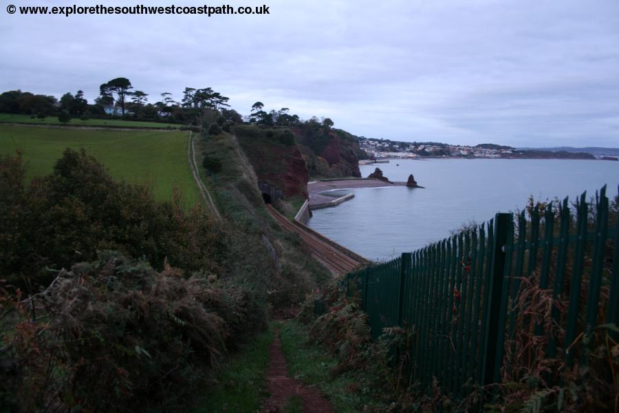 The coast path between Dawlish and Holcombe