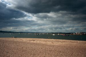 The end of Dawlish Warren looking towards Exmouth.