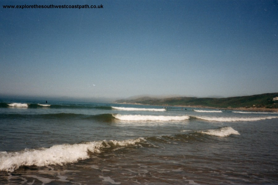 Surf at Woolacombe Beach